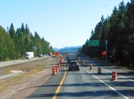 The construction zone I dreaded was scarcely a slowdown. My last trip it delayed me an hour and a half.