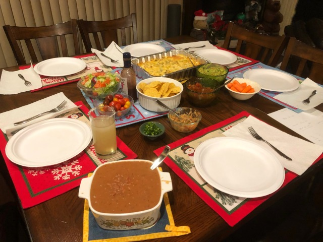 2018-12-27b Dinner spread