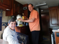 Craig operates the Margaritaville mixer as Allen lends a hand. That machine makes incredible margaritas!