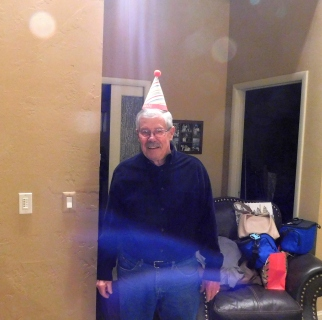 Little Jeremy greeted me as I made my grand entrance to the party and wanted Uncle Dale to pose with his party hat. And that's the only reason this photo made the cut!