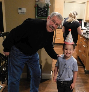 Ashley and Darren's lil' cutie, Jeremy, posed with Uncle Dale.