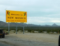 New Mexico's usual splashy welcome.