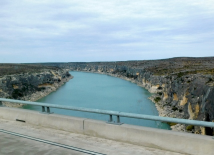 I crossed the Pecos River.