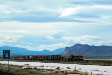 This train moving through the desert wins Photo of the Day! I was very pleased how it turned out.
