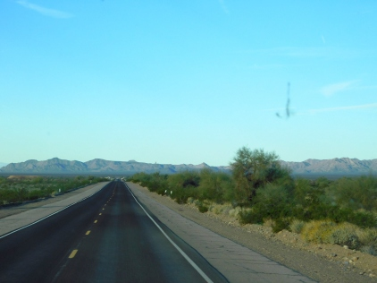 It was a very scenic morning drive through the desert.