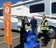 The Walmart Associates helped load the coach with the groceries we ordered. Their pick-up service is a great time and hassle saver!