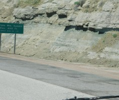 I chopped off this sign, but it is on the Siskiyou Summit which, at just 4310 feet, is the highest point on all of I-5.