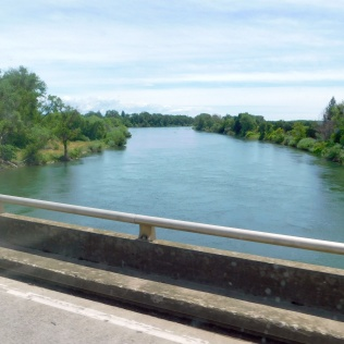 Crossing the Feather River near Gridley.