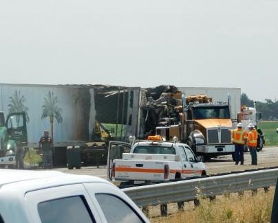 It appeared that several big rigs were involved.