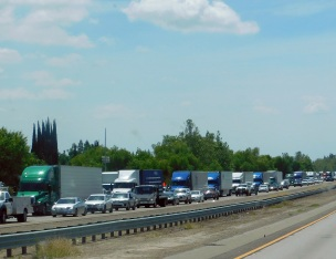 I-5 was a parking lot for miles.