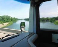 Crossing the Sacramento River near Red Bluff (I think.)