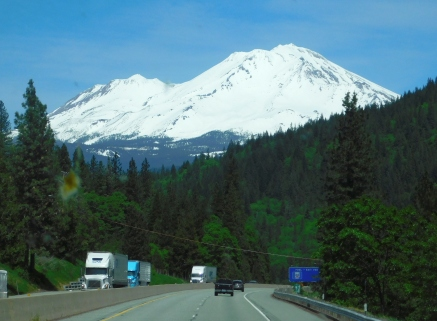 Beautiful Mt. Shasta covered with snow!