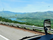 Beautiful Oregon view during the drive down the grade from Siskiyou Summit.