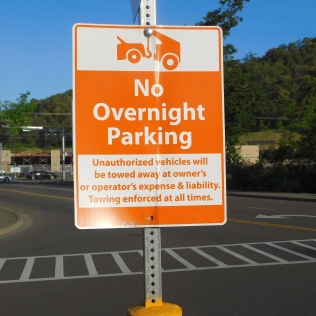 I had called earlier and was told by a gal at Walmart that the lot was posted, but they didn't' mind. Local city councils often pass such nonsense, but the local cops have better things to do than hassle harmless RVers who spend money in their town.