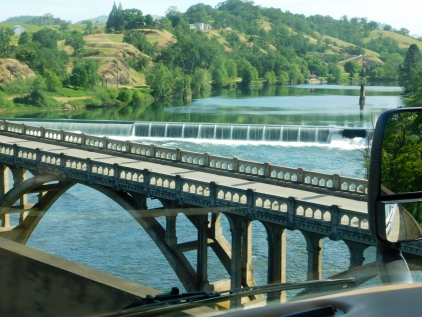 Winchester Dam on the Umpqua River as seen from I-5.