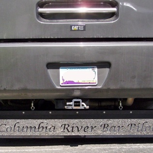 A stylish mudflap made by DuraFlap.