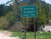 Donner Summit after the long climb - and Big Blue pulled it like the diesel she is.