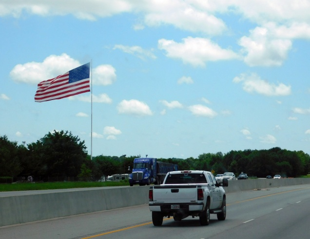 In Arkansas, giant flags are pretty common...