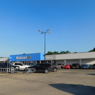 The unusually small Walmart in Henryetta, Oklahoma where we spent the hot, humid evening and night.