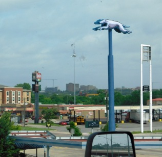 In Oklahoma City this Greyhound symbol was quite a sight, so here it is for all to see.