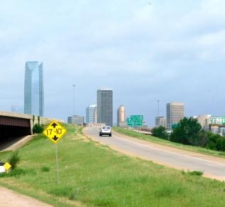 A portion of the Oklahoma City skyline.