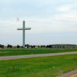 One of the largest crosses on earth is in Groom, Texas.