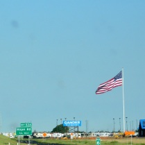 Texans love huge flags, too. This one flies over the Gander Outdoors store in Amarillo. And yes, it was a very windy day!