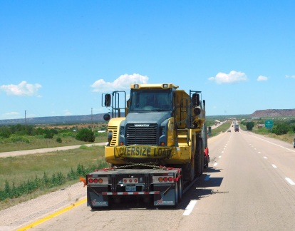 An off road construction dump truck passed us doing 65 miles per hour backwards! That must have been some driver!