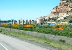 It is sad the way some tourist traps junk up the highway views with glitzy ads. It looks very tacky.