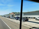 We passed this fleet of big rigs at a weigh station - those huge beams must have been for bridge building somewhere.