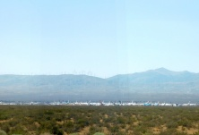 Stored airliners in a perfectly dry environment for such things: The Mojave Desert!