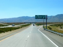 Viewing the Tehachapi Mountains while driving through the desert. We would spend the night near the summit.