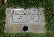 Lavonne's cousin, Donna Rae's grave.