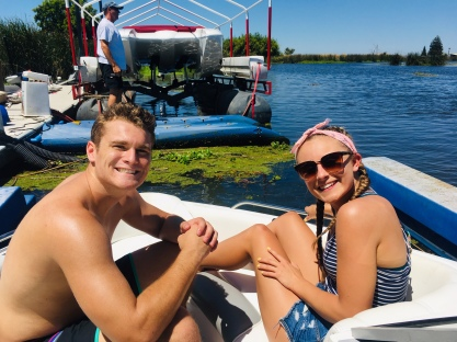 Connor and Kendall near Craig's dock.