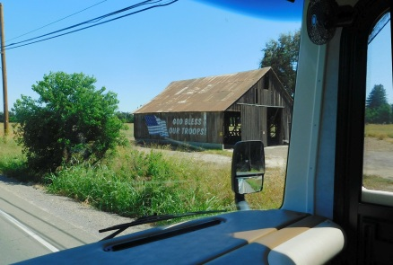 A barn near Gale and John's home. It seemed very appropriate for today, the 18th anniversary of 9-11.