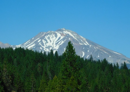 Beautiful Mt. Shasta now due for more snow.