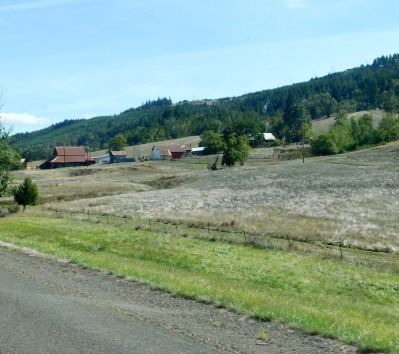 Beautiful Oregon - even with the brown fields.