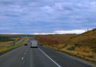 Idaho greeted us with threatening skies - but it was only a threat.