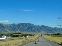 Approaching Perry, Utah.