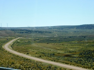 This photo is sooo Wyoming because it is a big chunk of emptiness. And scenic!