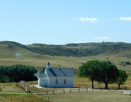 The Virginia Dale Community Church in... Virginia Dale, CO. What a pretty setting for a lovely, little church.