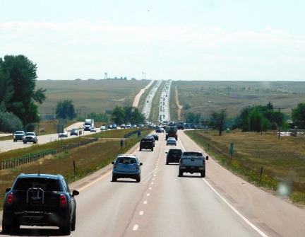 Denver type traffic - and we were still miles from the place!