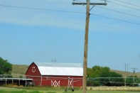 Another Nebraska red barn - and this one seems particularly happy.