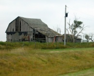 There is character and then there is just falling apart. This old barn has about lost its character.