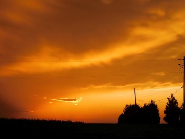 2019-9-24sb Hiawatha, KS Walmart sunset
