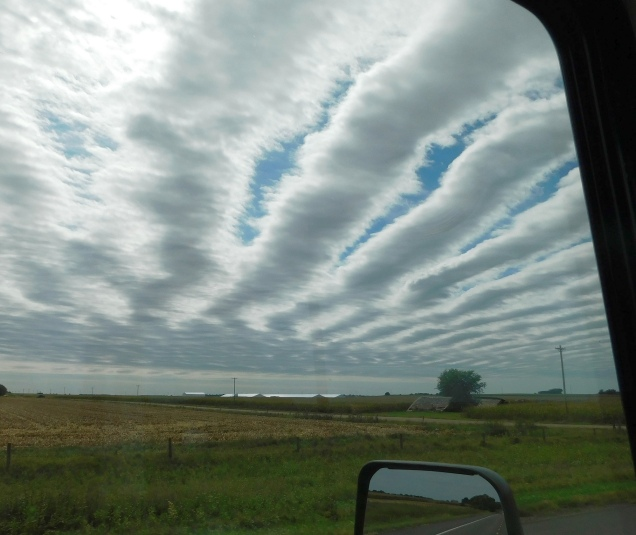 Unusual cloud formations above the heartland.
