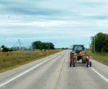Nebraska traffic jam.