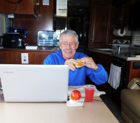 Dale, happy once again in Dale's Diner. Maybe I need more McGriddles - I'm beginning to look downright skinny! (Hooray!)