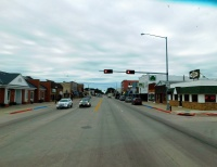 Driving through the lovely little farm town of O'Neill, Nebraska.