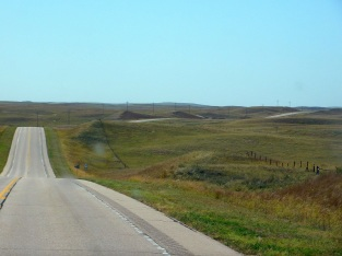 The Great Plains can be pretty hilly. I drove up and down much of the day.
